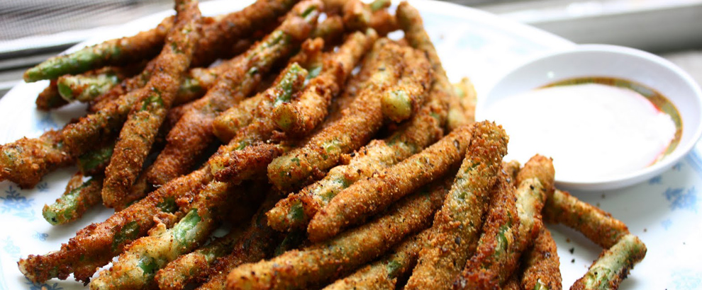 RECIPE: BLAZE'S SPICY DEEP FRIED GREEN BEANS